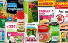Инсектициды - сводная таблица применяемых препаратов
