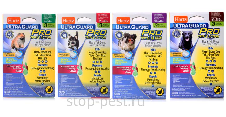 """Капли от клещей для собак """"Hartz Ultra Guard"""""""