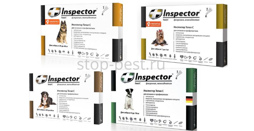 Инспектор, капли от клещей для собак
