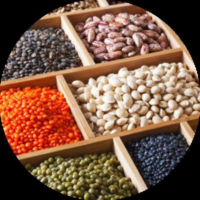 Горох, фасоль и бобовые культуры - изображение круг