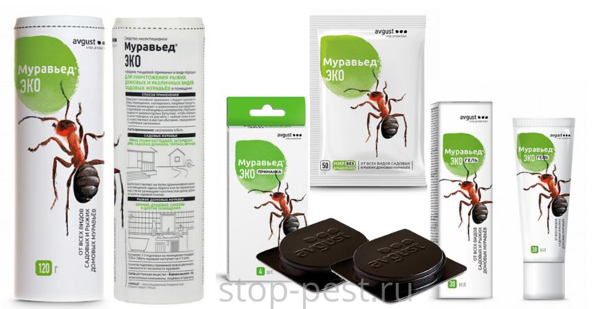 Муравьед -ЭКО, серия препаратов от муравьев