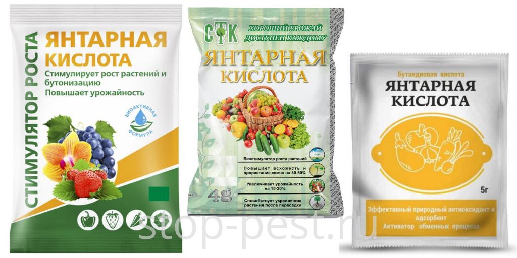 Янтарная кислота - препарат для стимуляции роста растений и активной бутонизации