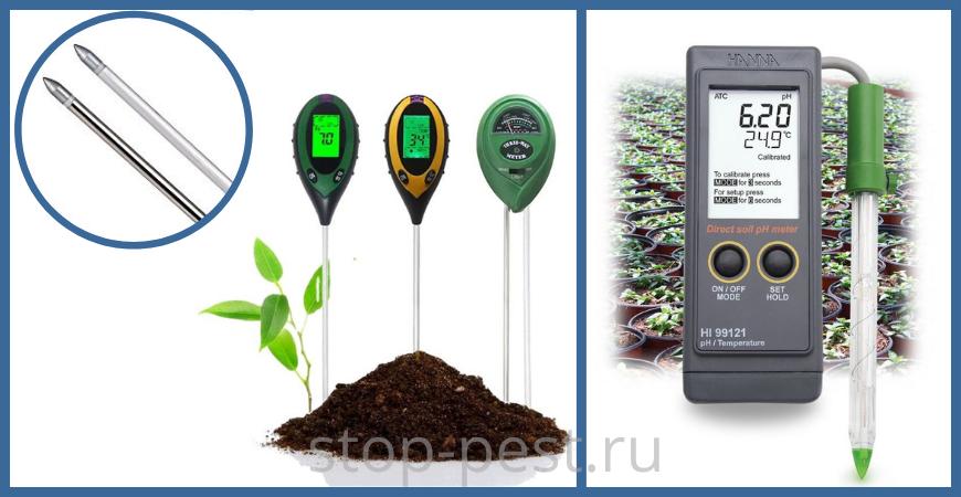 Прибор pH метр почвы
